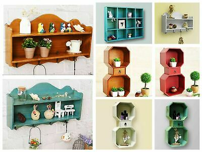 Wooden Storage Shelf 12 Compartments Wall Decoration Display Shelving Unit NEW