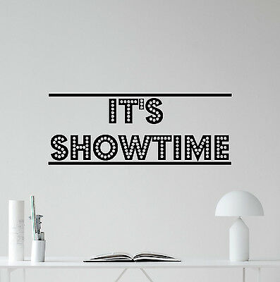 It's Showtime Wall Decal Cinema Home Theater Movie Vinyl Sticker Decor 169crt