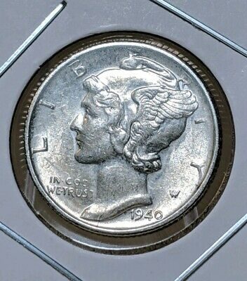 1940-S Mercury Dime (AU) Almost Uncirculated 90% Silver United States Mint Coin