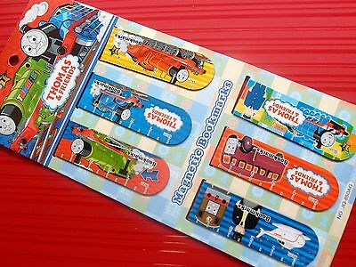 6X Thomas And Friends Magnetic Bookmark Clip Stationery Gift Souvenir Collection