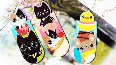Cartoon Animals Magnetic Bookmark Clip Stationery Collection Kids Birthday Gift