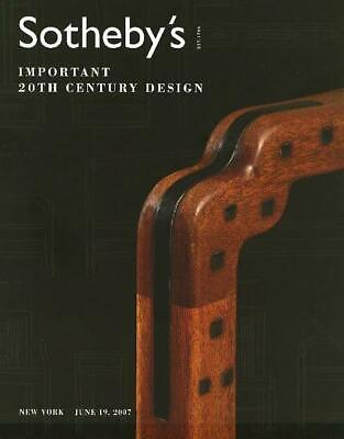 Sotheby's /// 20th C. Design Deco Nouveau Art Post Auction Catalog 2007
