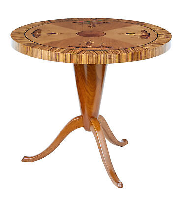 Late Art Deco Elm Inlaid Coffee Table