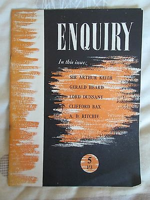 ENQUIRY Vol.1 No.5 1948/9 J Heath-Stubbs Gerald Heard Clifford Bax Lord Dunsany