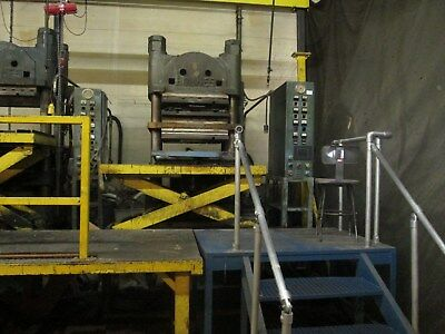 "500 Ton Holmes 4 Post Molding Press, (4) 32"" X 32""  Electrically Heated Platens"