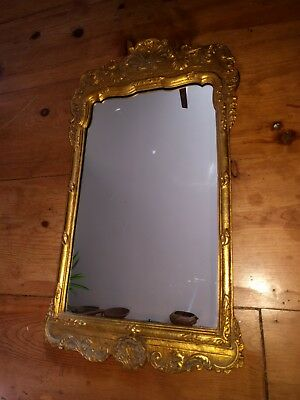 "VINTAGE 28 x 16"" ORNATE FRAMED MIRROR"