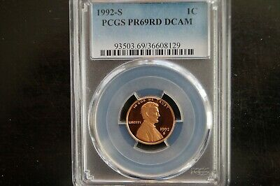 1992-S Lincoln Cent Pcgs Pr69Rd Dcam $2.45 Shipping