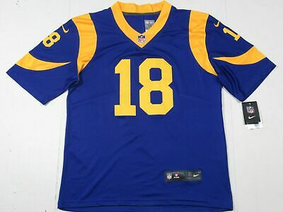 low priced db975 33194 NWT COOPER KUPP #18 Los Angeles Rams Royal Blue Adult Jersey