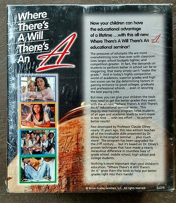 6 VHS Where There's A Will There's An A High School Seminar educational tapes