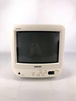 "Sony 9"" Trinitron Color TV KV-9PT50 w/ remote antenna vintage gaming compact"