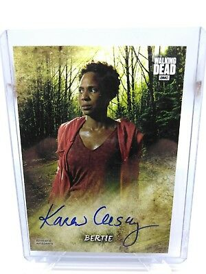 2018 Topps Amc The Walking Dead Season 8 Auto Signed Karen Ceesay Aka Bertie