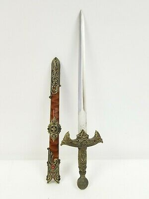 Decorative Medieval Style Knights Dagger Sword Knife With Sheath Renaissance
