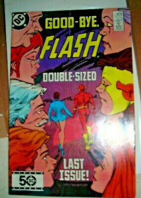 The FLASH 350 FINAL ISSUE OCTOBER 1985 DC Comic FVF Infantino bronze age SEEMORE