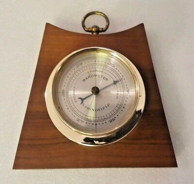 Mid-century Modern Springfield Barometer Wall Hanging Wood Plaque Ship Style