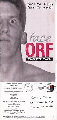 Face Orf A Comedy Show By Chris Orf Advertising Colour Postcard