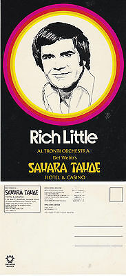 RICH LITTLE IN CABARET ADVERTISING OVERSIZED UNUSED COLOUR POSTCARD (b)