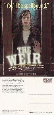 THE WEIR A PLAY BY CONOR McPHERSON UNUSED ADVERTISING COLOUR POSTCARD (a)