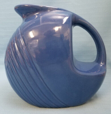 Cantinaware Art Deco Pottery Water Pitcher Container Bright Blue