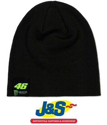 VR46 Dual Lava Monster Beanie Official Valentino Rossi Winter Hat Grey Black J&S