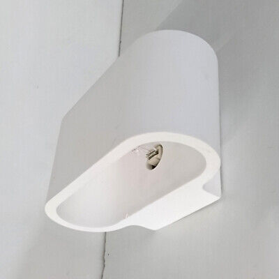 White Oval Plaster Wall Light Modern Home Indoor Lighting Clearance Litecraft