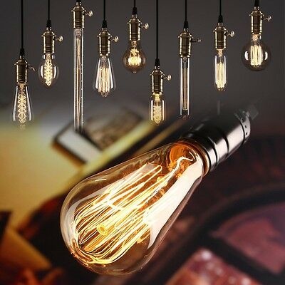 E27 Incandescent Bulb 60W RetroTungsten Chandelier Warm White Lighting 110/220V