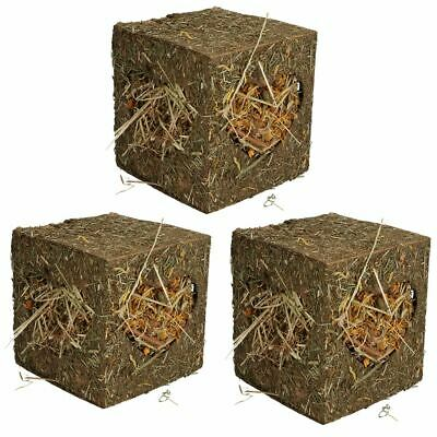 Three Small Animals Guinea Pigs Rabbits Boredom Breaker Medium Hay Cubes