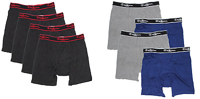 Champion Men's Boxer Briefs 4 Pack VARIETY Size and Color