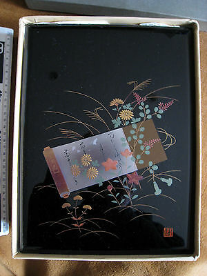 RARE AIZU JAPANESE LAQUER BOX GOLD & SILVER 20+ YEARS OLD APPROX 22x30x6cm q1ro1