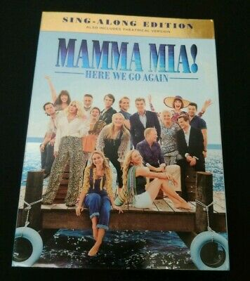 Mamma Mia Here We Go Again (DVD) Sing-Along Edition  SEALED NEW