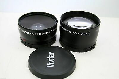 HD4 OPTICS VIVITAR MC AF 2.2X TELEPHOTO & 0.43x WIDE ANGLE CONVERTER LENS 58MM