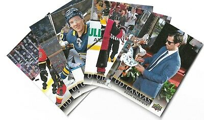 2018-19 Upper deck Series 2 Canvas Cards U Pick From List #121-255 Stars Legends