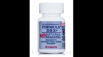 Formula 303 - 45 tablets/bottle (free shipping) NEW by Dee Cee Labs Exp 11/2020