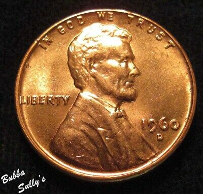 1960 D Small Date Lincoln Cent <> UNCIRCULATED Red
