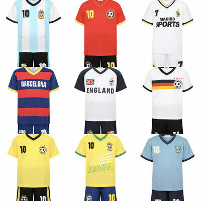 Football Kit For Kids,Boys and Girls Sport Jersey T Shirt Short set Age2-14Year