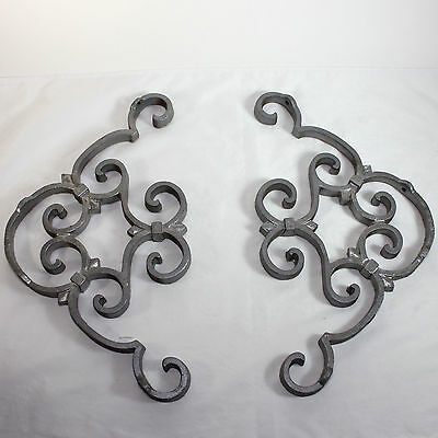 Vintage ornate cast aluminum decorative ornate shelf/porch brackets, hardware
