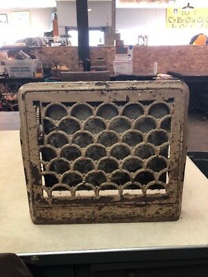 """Early 1900's Metal 14""""x13"""" Wall Vent Cover"""