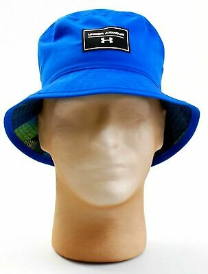 4c921387b7f40 Youth Boy Under Armour Storm Switchback Reversible Sun Bucket Hat Blue Nwt