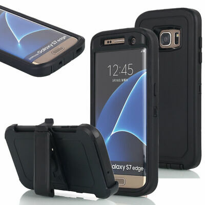 For Samsung Galaxy S7 Case Cover with Screen w(Belt Clip Fits Otter Box Defender