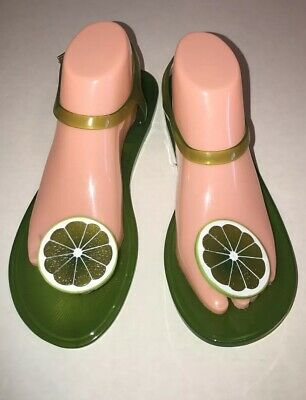 c0acee78e6c8 Katy Perry Jelly Sandals 9 Lime Green New Womens The Geli Fruit Smell Me 39