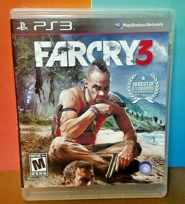 Farcry 3 Far Cry   - Sony PlayStation 3 PS3 Game COMPLETE w/ Manual