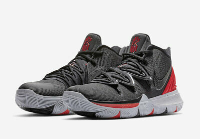 competitive price 630ee 1e28c 2019 Nike Kyrie 5 Bred University Red Black Ao2919-600 Irving Basketball  Shoes