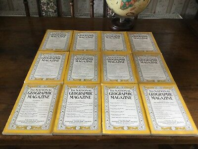 national geographic magazines complete year 1937 - 12 issues !