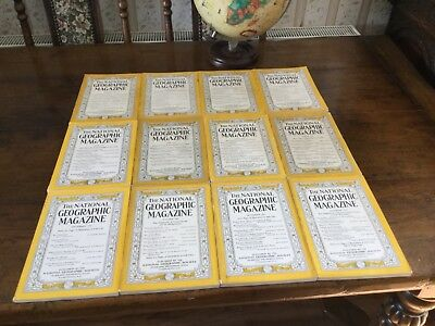 national geographic magazines complete year 1939 - 12 issues !!