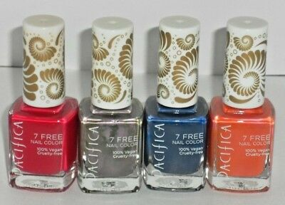 4 New Pacifica 7 Free Nail Polish Color Vegan Drift Pool Party