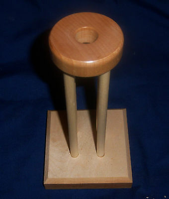 "2 1/2"" Mini  Kumihimo Marudai for Fabric  or Jewerly  Hard Maple"