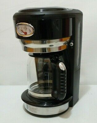 RUSSELL HOBBS RETRO STYLE COFFEE MAKER 8-Cup BLACK & STAINLESS STEEL CM3100BKR
