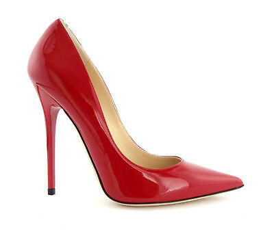 ef4e5a33a8d New JIMMY CHOO Size 6.5 ANOUK Flame Red Heels Pumps Shoes 36 1 2 NIB
