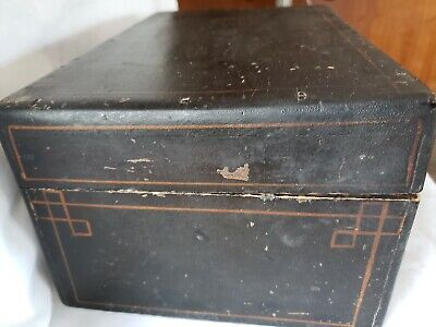 Primitive Wood Stenciled ANTIQUE DOCUMENT BOX..old and vintage