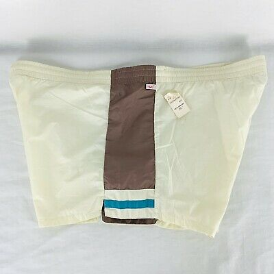 Vintage Jantzen Swim Trunks 1 Pocket Retro Swimwear Mens Size 42 NOS Made In USA