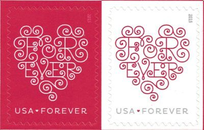 60 Stamps USPS Forever Love Heart Postage Stamp - Brand New